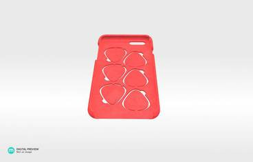 iPhone 6 case with guitar picks - Plastic matte red