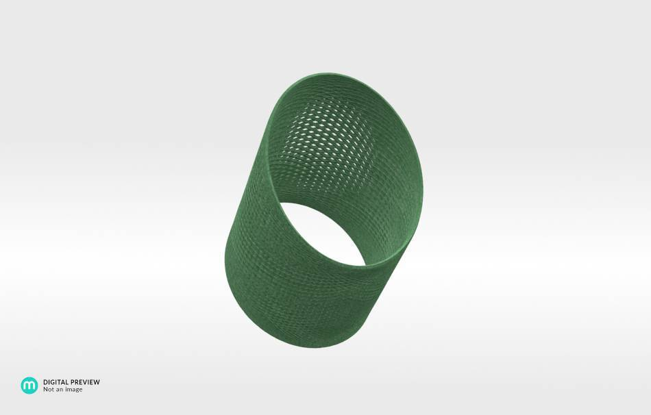 Plastic matte green                                                Jewelry competition | winning designs Top designs Bracelets Jewelry 3D printed