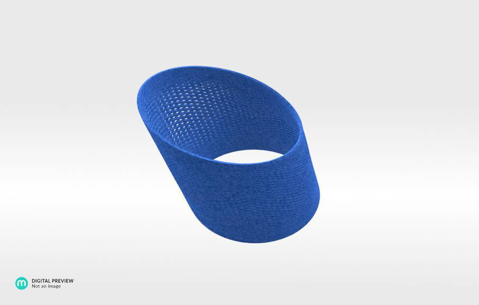 Plastic matte blue                                                Jewelry competition | winning designs Top designs Bracelets Jewelry 3D printed