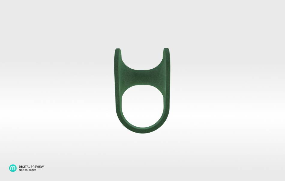 Plastic matte green                                                Jewelry Rings 3D printed