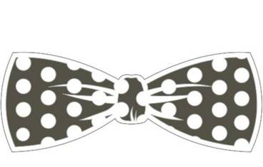 Keychain bow tie - Acrylic glass 3mm black