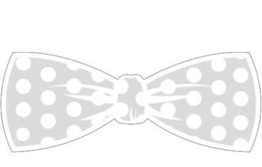 Keychain bow tie - Acrylic glass 5mm colorless transparent