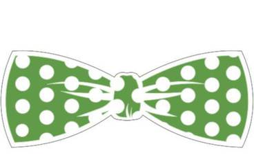 Keychain bow tie - Acrylic glass 3mm green