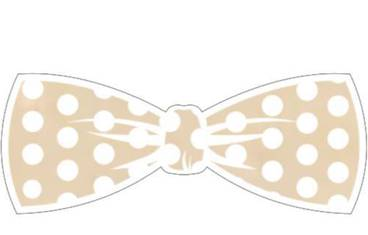 Keychain bow tie - Wood 5mm natural color