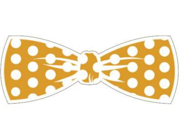 Keychain bow tie - Acrylic glass 3mm orange