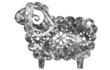 Keychain sheep - Felt grey