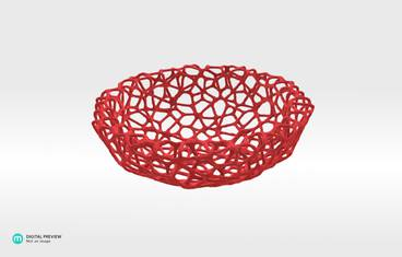 Little Bowl (12 cm) - Plastic matte red