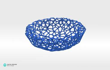 Little Bowl (12 cm) - Plastic matte blue