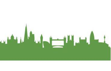 London skyline - Acrylic glass 3mm green