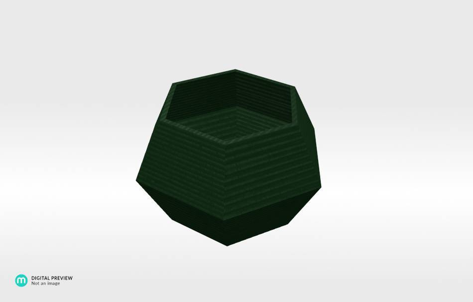 Plastic shiny & sturdy green                                                Organizers Organizers Decoration Decoration Home Office 3D printed