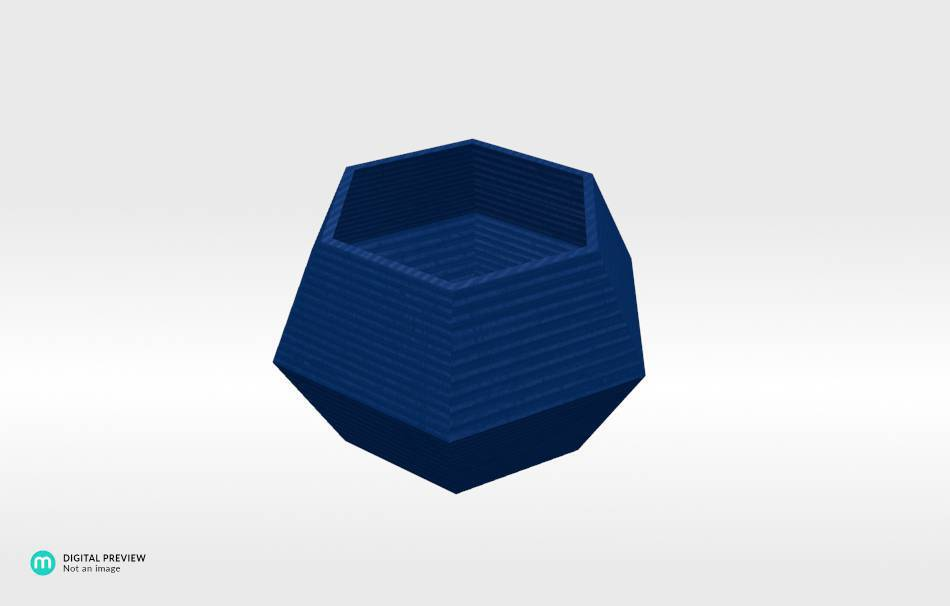 Plastic shiny & sturdy blue                                                Organizers Organizers Decoration Decoration Home Office 3D printed