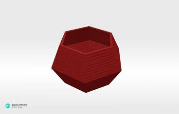 Lowpoly candle holder - Organic plastic red