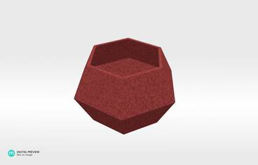 Lowpoly candle holder - Sandstone red