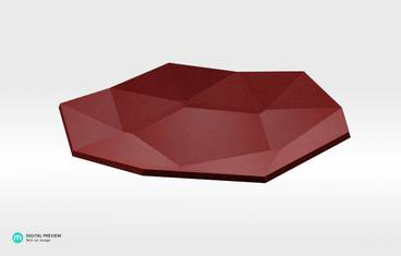 Lowpoly plate - Plastic matte red