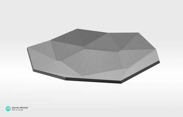 Lowpoly plate - Plastic matte white