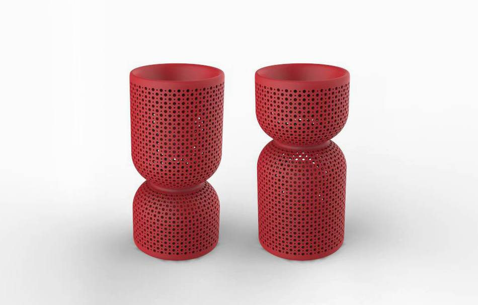 Plastic matte red                                                Top designs Decoration competition | winning designs Decoration Home 3D printed