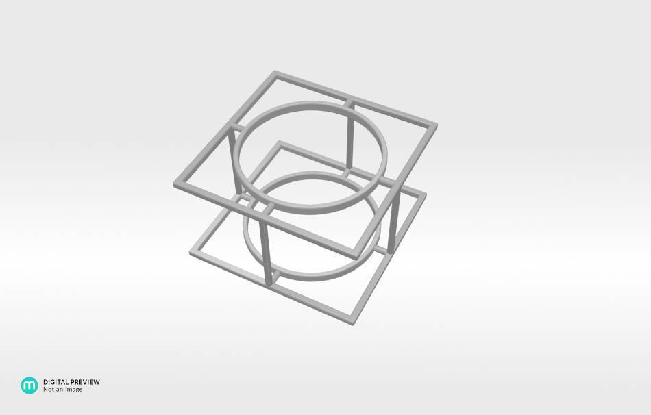 Resin white                                                Jewelry Rings 3D printed