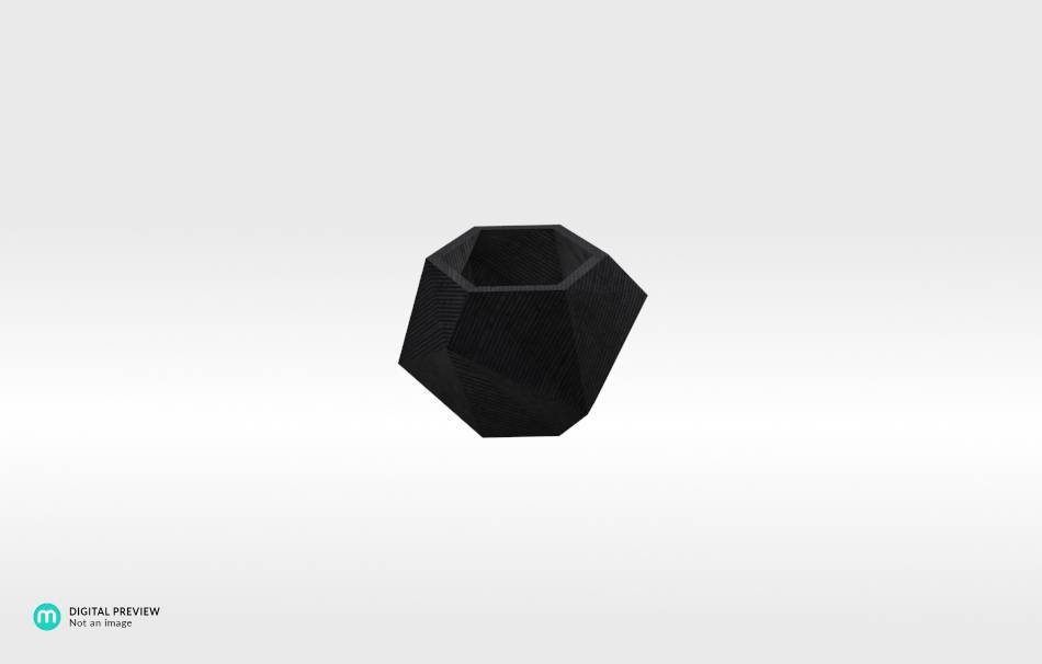 Plastic shiny & sturdy black                                                Home Others 3D printed