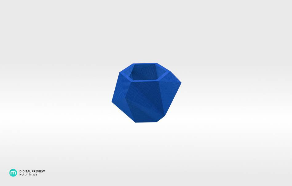 Plastic shiny & sturdy blue                                                Home Others 3D printed