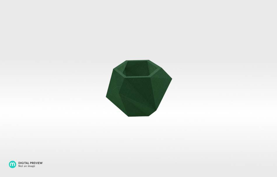 Plastic shiny & sturdy green                                                Home Others 3D printed