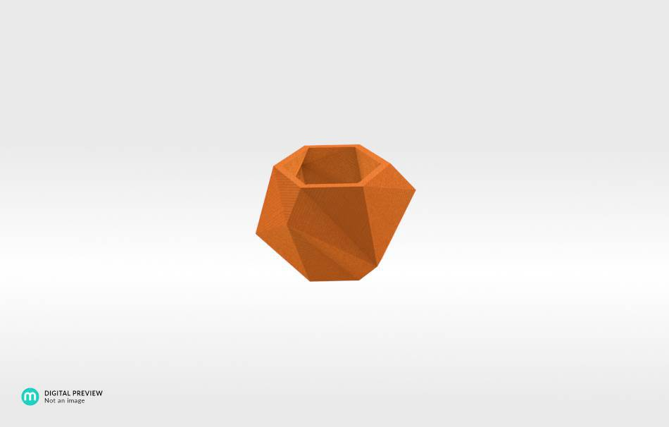 Plastic shiny & sturdy orange                                                Home Others 3D printed