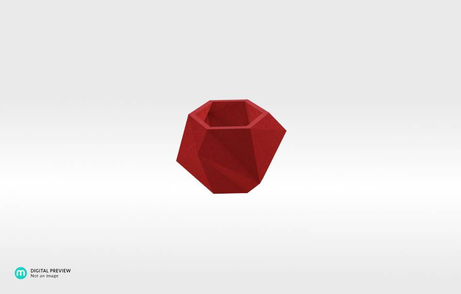 Plastic shiny & sturdy red                                                Home Others 3D printed