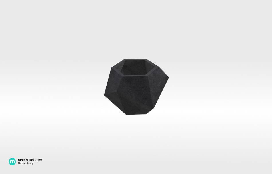 Plastic matte black                                                Home Others 3D printed