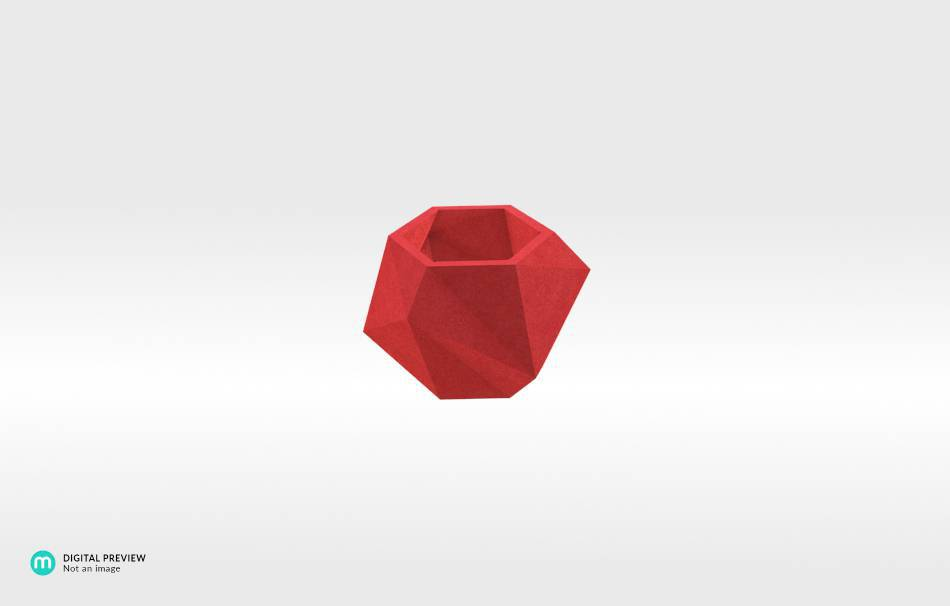 Plastic matte red                                                Home Others 3D printed