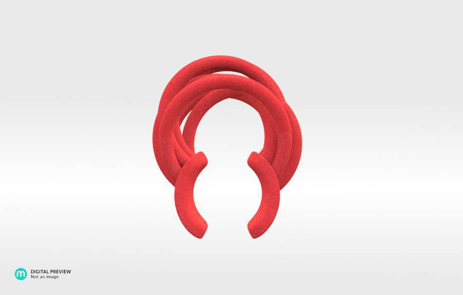 Plastic matte red                                                Jewelry competition | winning designs Top designs Jewelry Rings 3D printed