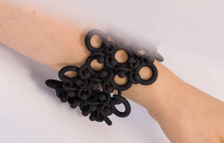 Plastic matte black                                                Jewelry competition | winning designs Top designs Bracelets Jewelry 3D printed