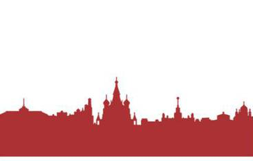 Moscow skyline - Acrylic glass 3mm red