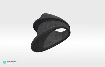 MyCity Tehran Ring - size Medium - Plastic matte black
