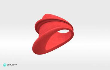 MyCity Tehran Ring - size Medium - Plastic matte red