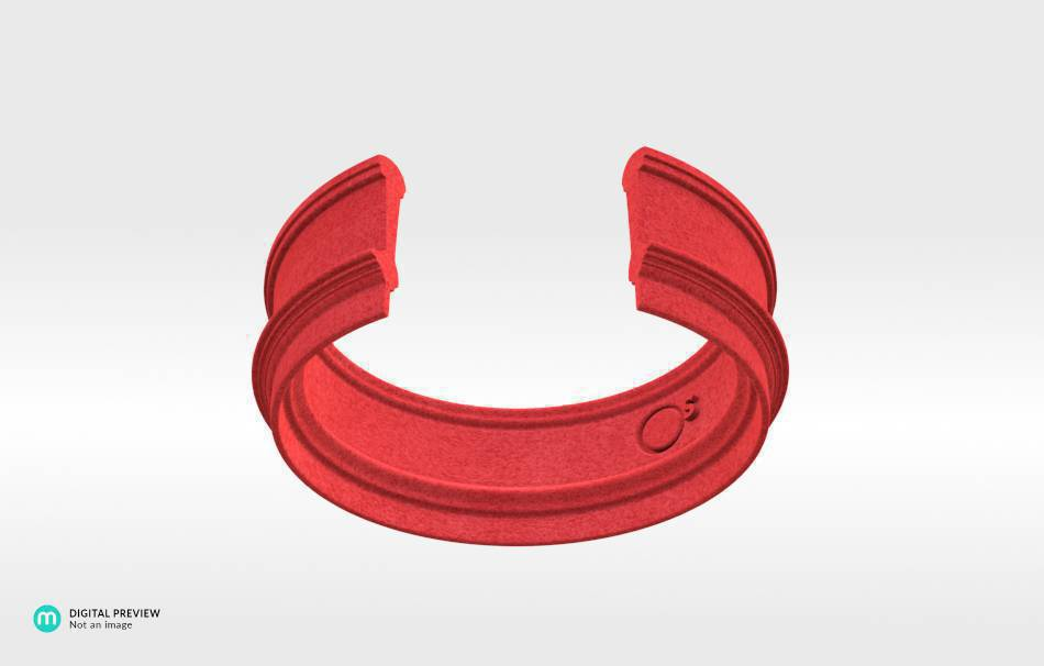 Plastic matte red                                                Bracelets Jewelry 3D printed
