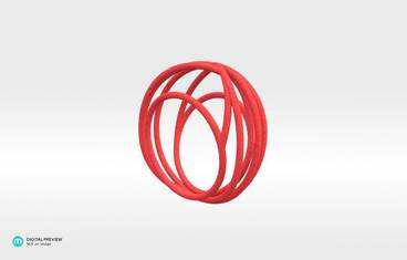 Nouv Ring - Large (Size 8 US) - Plastic matte red
