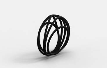 Nouv Ring Plastic Matte Black