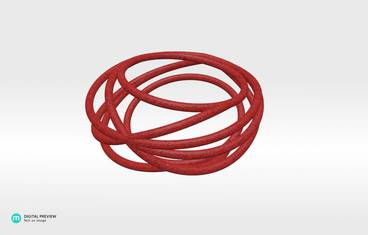 Nouv Ring - Plastic matte red