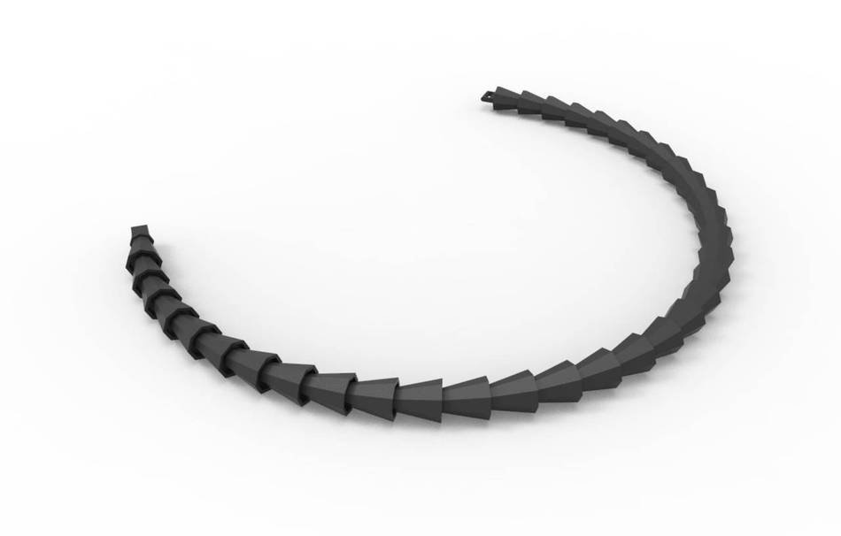 Plastic matte black                                                Necklaces Jewelry competition | winning designs Top designs Jewelry 3D printed