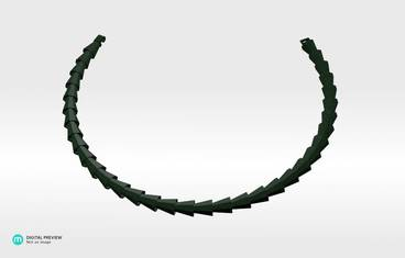 Octo Necklace - Plastic matte green