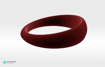 """Organic"" ring - Plastic matte red"