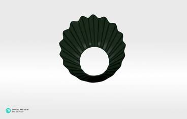 Origami ring - Plastic matte green