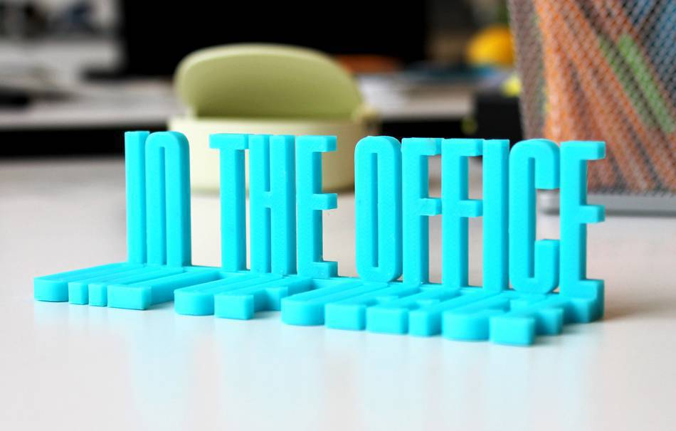 Cards and signs Office 3D printed