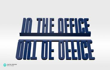 Out/In the office - Resin blue