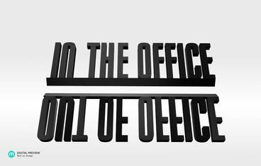 Out/In the office - Resin black