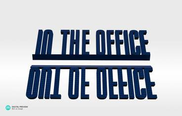 Out/In the office - Plastic shiny & sturdy blue
