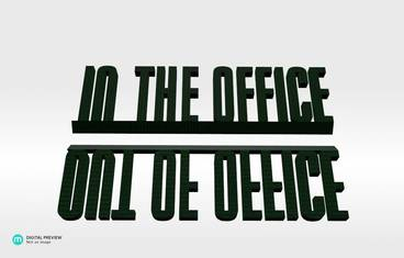Out/In the office - Plastic shiny & sturdy green