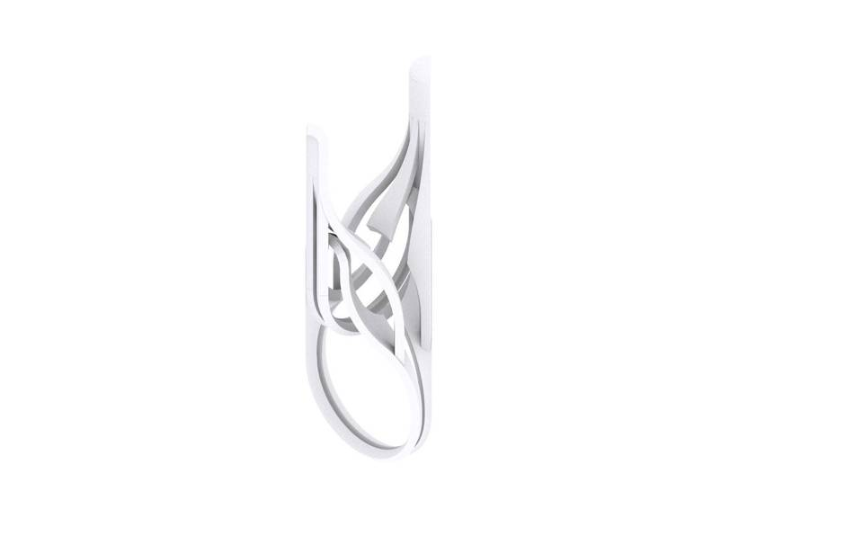 Plastic matte white                                                Top designs Jewelry competition | winning designs Jewelry Rings 3D printed