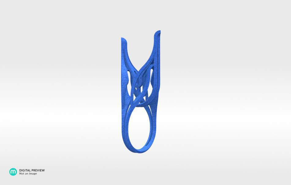 Plastic matte blue                                                Jewelry competition | winning designs Top designs Jewelry Rings 3D printed