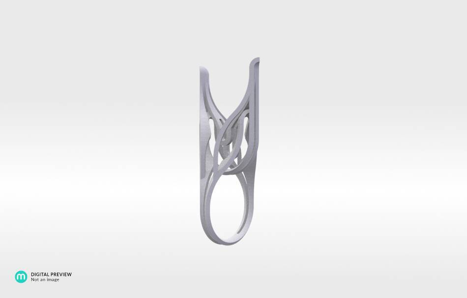 Resin white                                                Jewelry competition | winning designs Top designs Jewelry Rings 3D printed