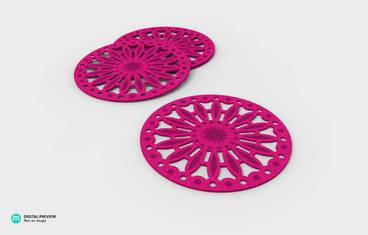 Pan coaster floral design